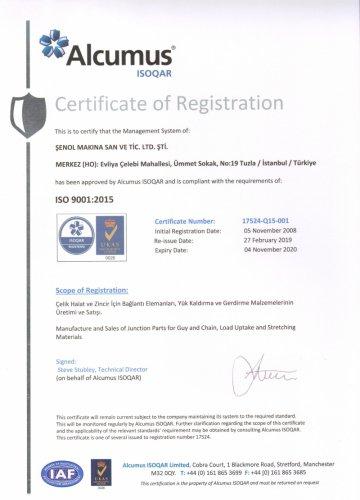 ISO 9001  KALİTE BELGESİ